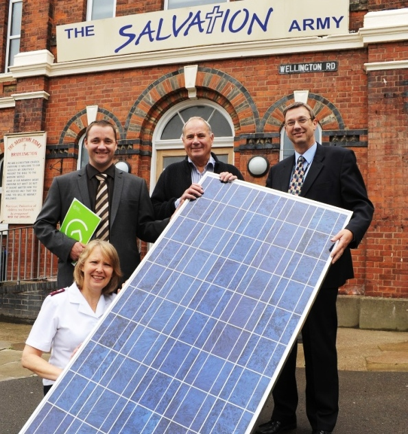Solar Power for Bridlington's Salvation Army